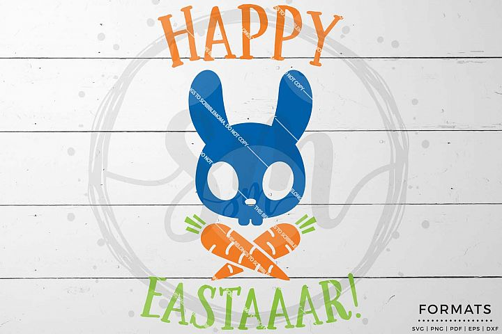 Happy Easter Pirate Bunny svg Files for Cricut
