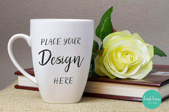 Blank White Coffee Mug Mock-Up