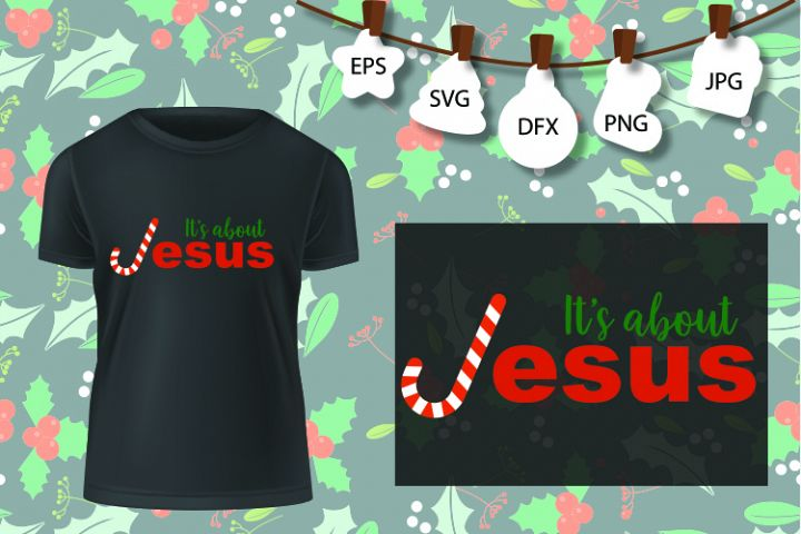 Christmas Its All About Jesus SVG Christmas SVG Funny