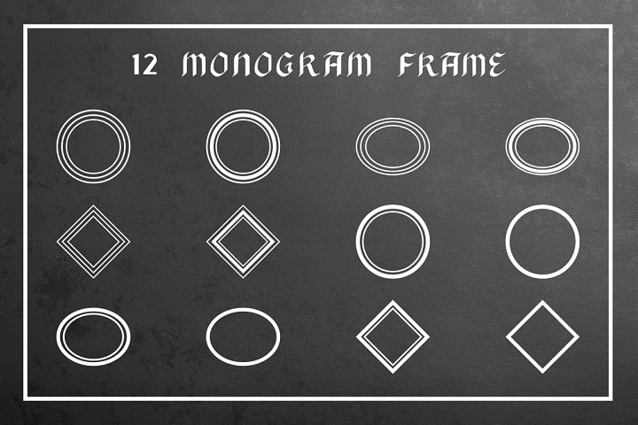 Black Monogram Creator  example image 2