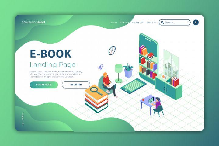 Ebook - Landing Page Illustration