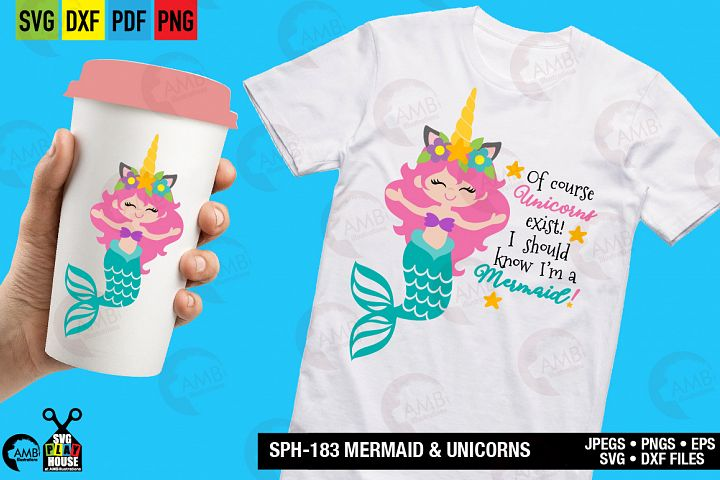 Mermaid and unicorns svg SPH-183