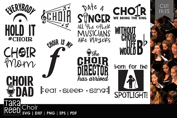 Choir - Music SVG and Cut Files for Crafters