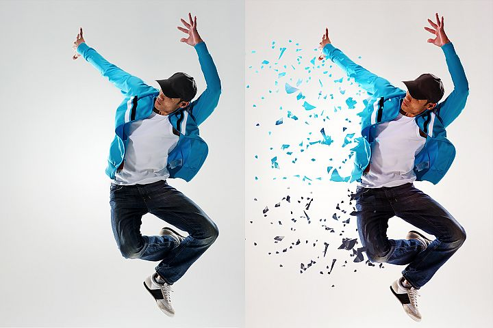Dispersion Photoshop Action example 1