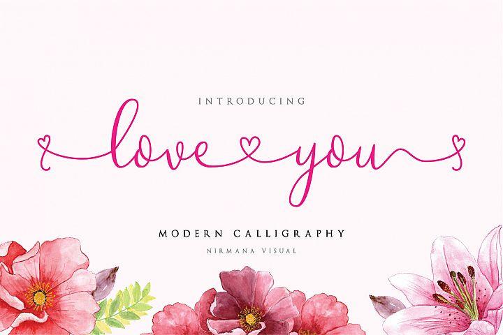 Loveyou - Romantic Font