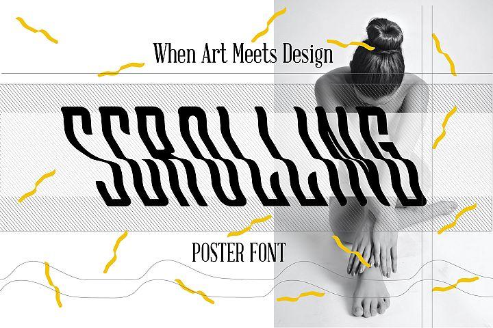 Scrolling font