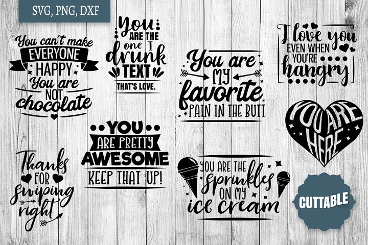 Funny Love SVG bundle, Sassy love quote cut file bundles