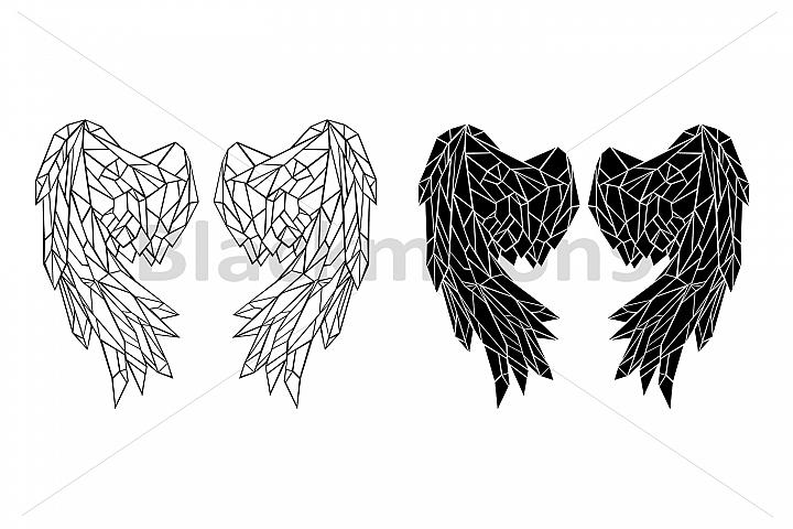 Polygonal Folded Wings