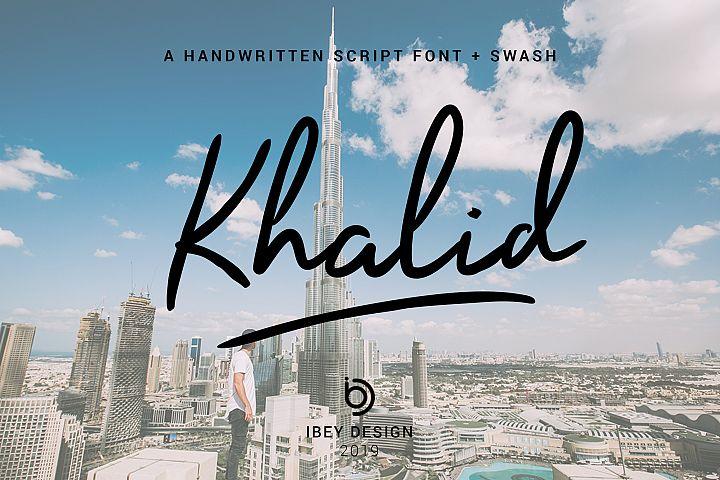 Khalid - Font with Swash