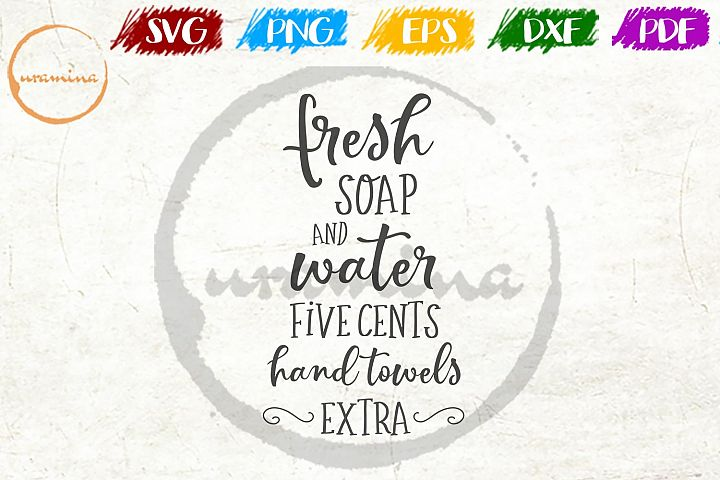 Fresh Soap Bathroom SVG PDF PNG