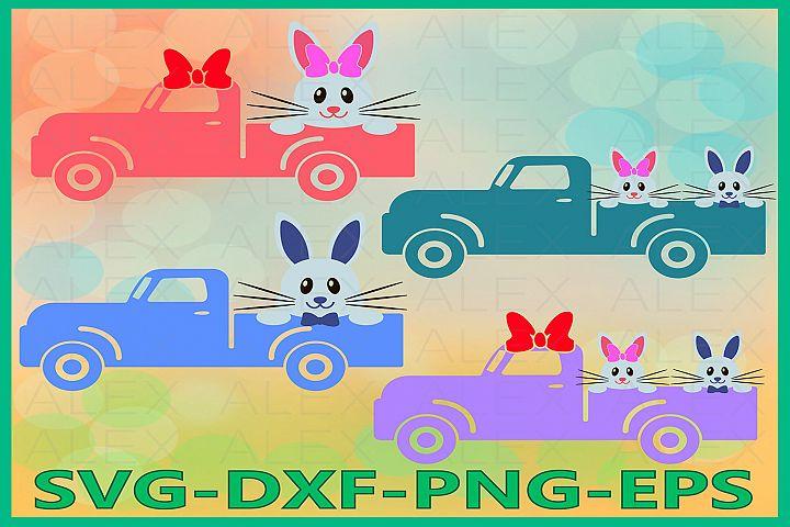 Easter Bunny Truck Svg, Easter Truck Svg, Easter SVG