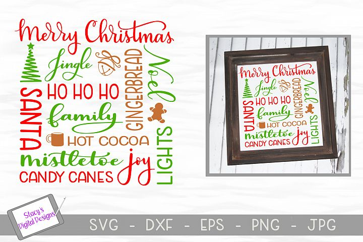 Christmas Subway Art SVG - Christmas SVG