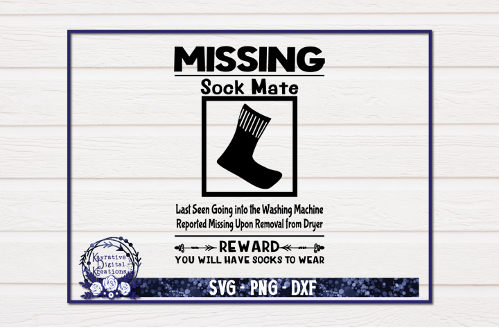 Laundry Room Sign - Laundry SVG - Missing Sock