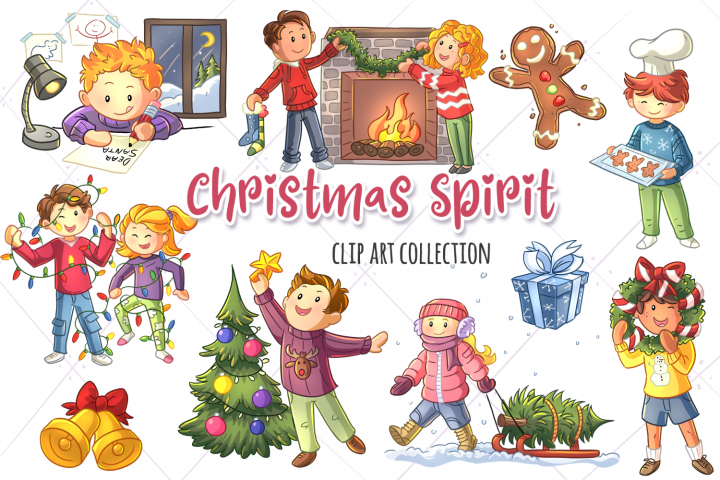 Christmas Spirit Clip Art Collection