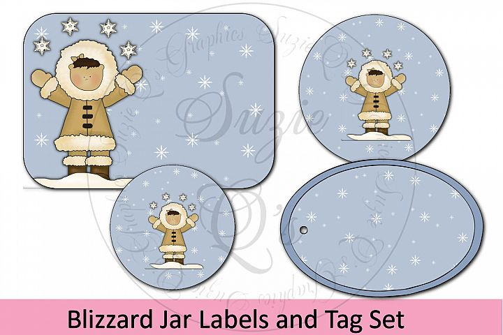 Blizzard Jar Labels and Tag