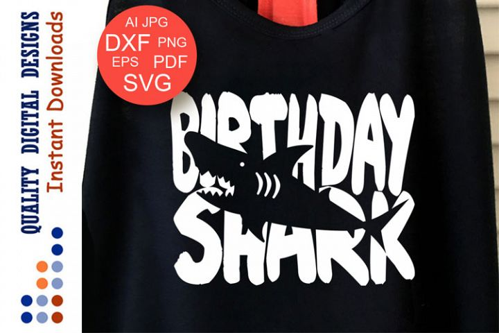 Birthday Shark Cut files Shark party Svg files Cricut