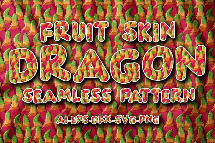 Seamless Pattern Fruit Dragon Skin
