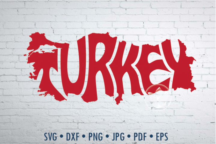 Turkey Word Art, Svg Dxf Eps Png Jpg, cut file