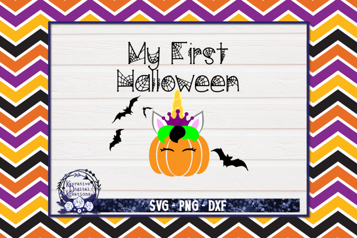 My First Halloween SVG - Pumpkins - Pumpkin Unicorn Fairy