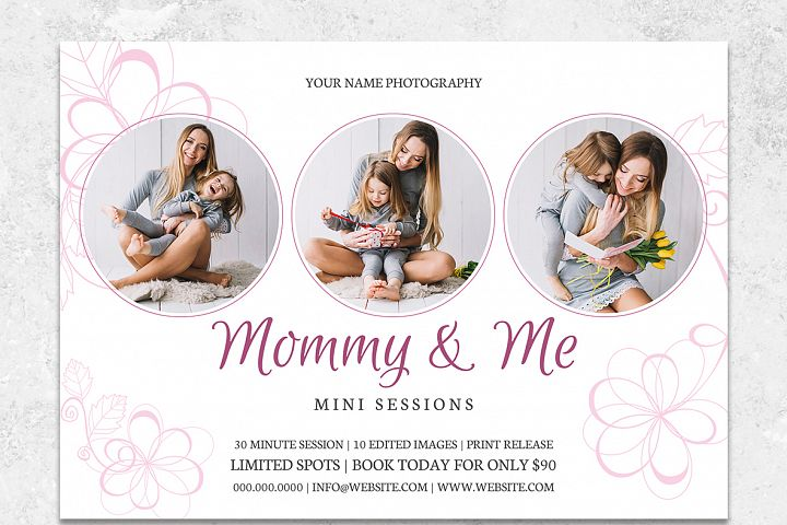 Mommy and Me Mini Sessions Template