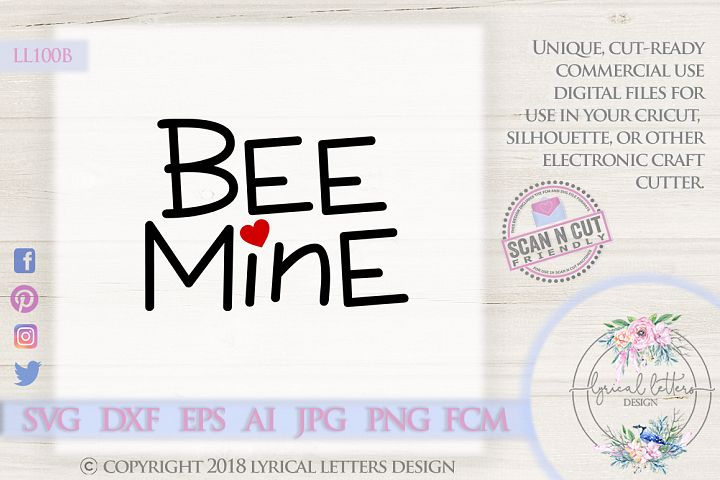 Valentines Day Bee Mine SVG DXF FCM LL100B