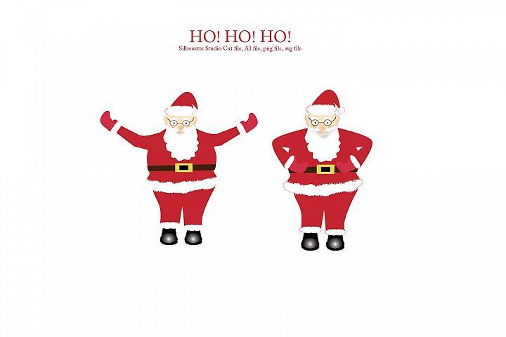 Print and Cut Santa Graphic File