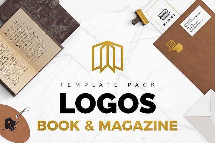 Books & Magazine Logos Bundle Pack