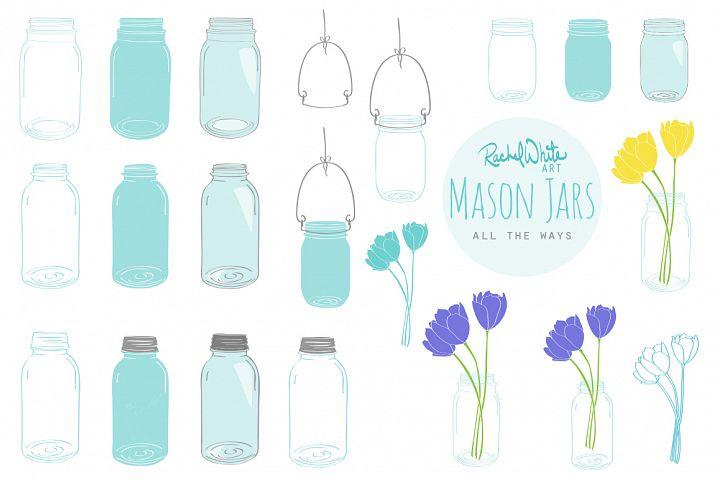 Mason Jars - Free Design of The Week Design0