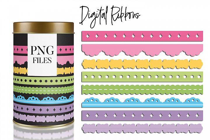 Long Ribbons Pastel Colors