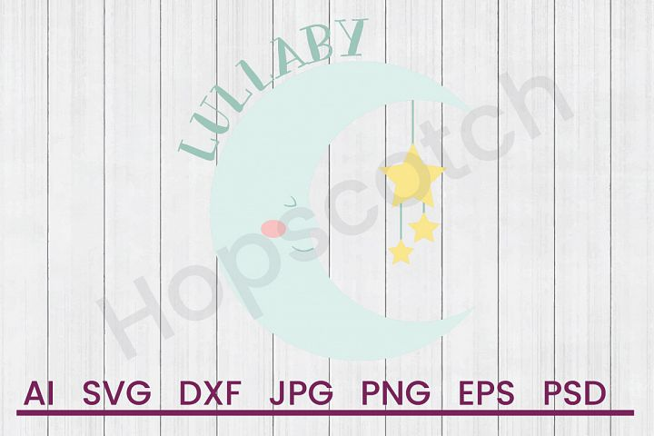 Night Scene SVG, Lullaby SVG, DXF File, Cuttatable File