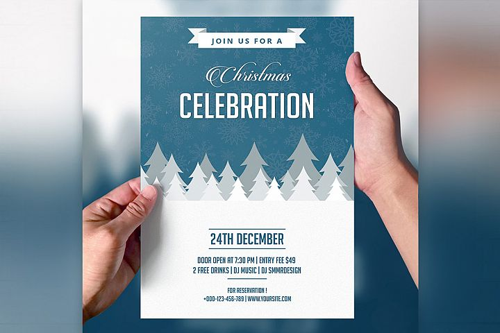 Mountain Christmas Party Flyer