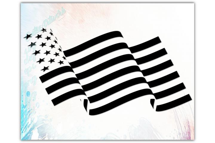 Waving American flag svg, Patriotic 4th of july svg