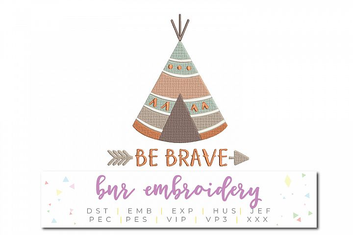 Be Brave Machine Embroidery Design