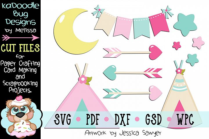 Tribal Glamping Cut File - SVG PDF DXF GSD WPC