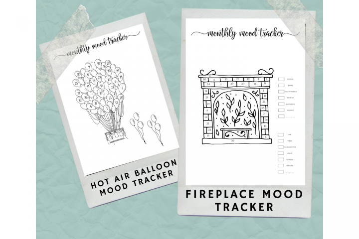 Printable Mood Tracker, Bullet Journals, Hygge Mood Trackers