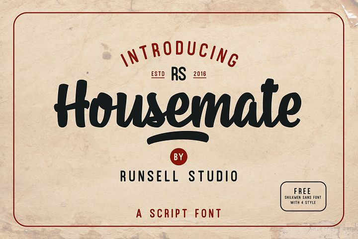 Housemate + Shilkmen Sans (Bonus) example image 1