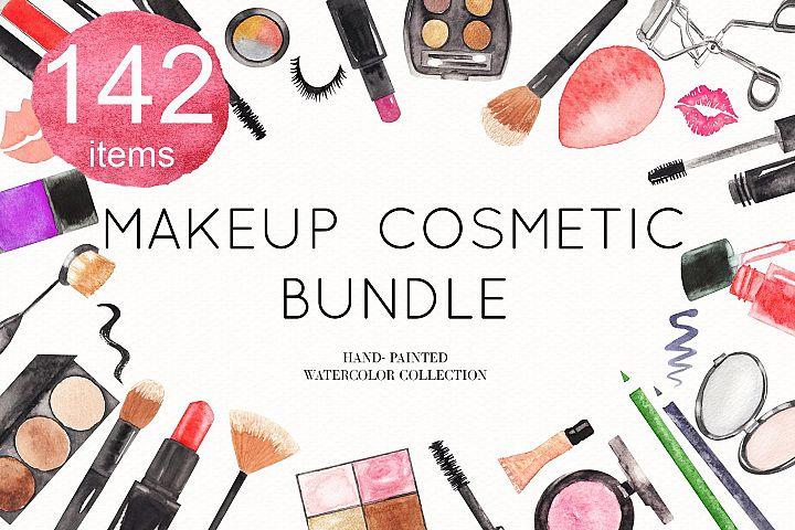 Watercolor Makeup Cosmetic Bundle