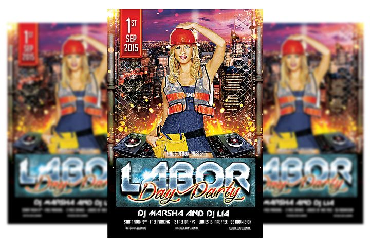 Labor Day Flyer Template #2