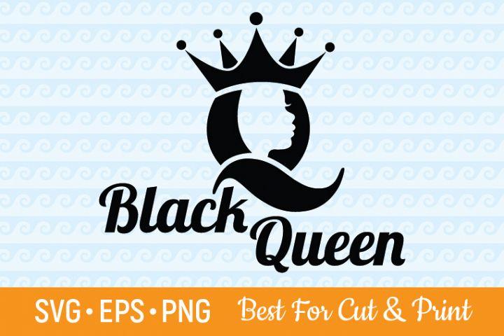 Black Queen SVG Afro SVG Afro Woman SVG Melanin SVG Black
