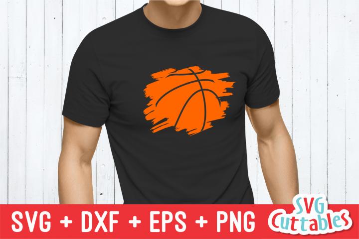 Basketball Paint Stroke | Basketball Cut File