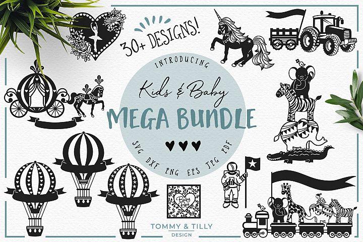 OVER 30 DESIGNS! Kids & Baby Mega Bundle - SVG DXF PNG EPS
