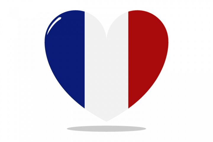 France flag with heart