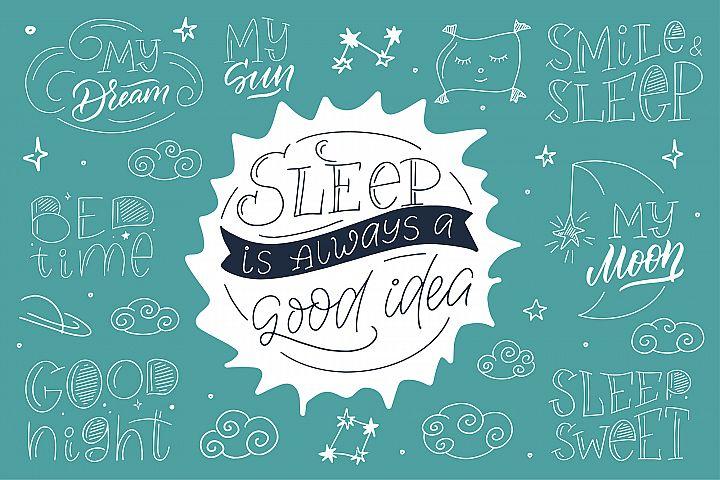Sleep time Hand drawn modern collection