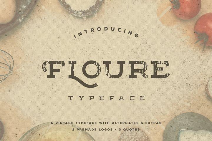 Floure Typeface + Extras