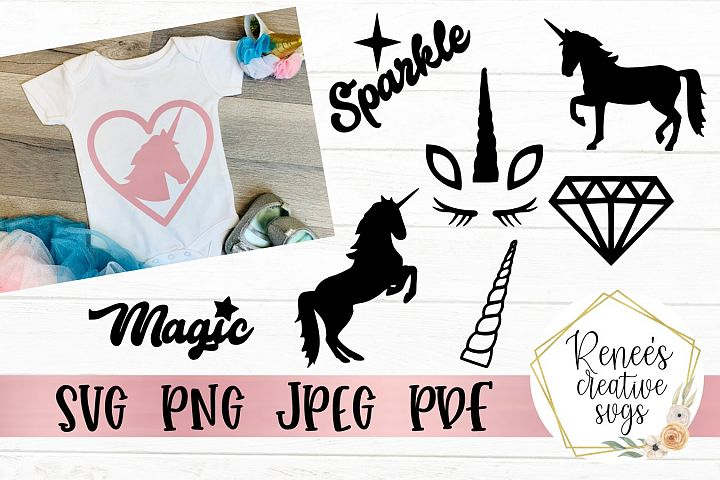 Unicorn bundle | Unicorn SVG | SVG Cutting File