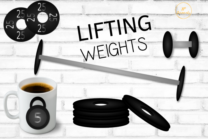 Lifting Weights - Weight Lifting Gym Set