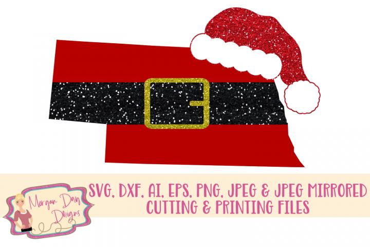 Nebraska Santa SVG, DXF, AI, EPS, PNG, JPEG