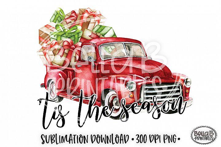 Christmas Sublimation Design, Tis The Season Sublimation