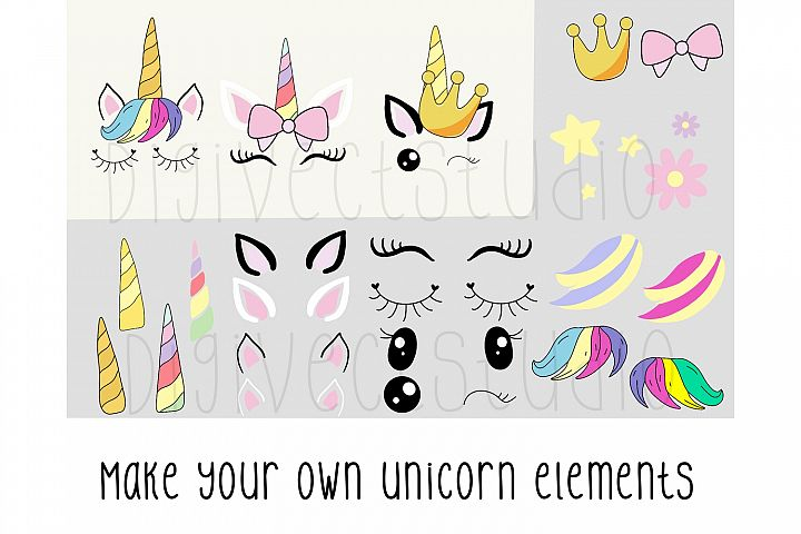 Create your own unicorn - PNG - SVG