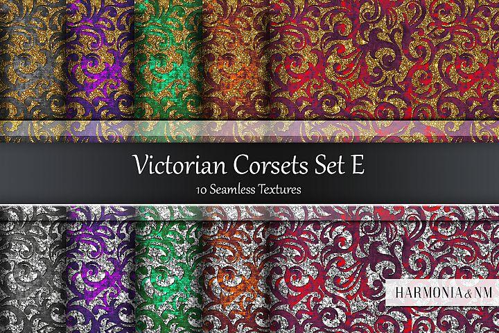 Victorian Corsets Set E Velvet Damask 10 Seamless Textures